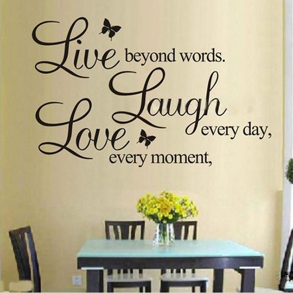 Laugh Love Wall Art Vinyl Home Decor