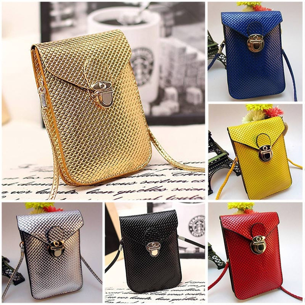 Picture of Women Mini Pu Leather Cross-body Messenger Bag Purse Shoulder Mobile Phone Bag