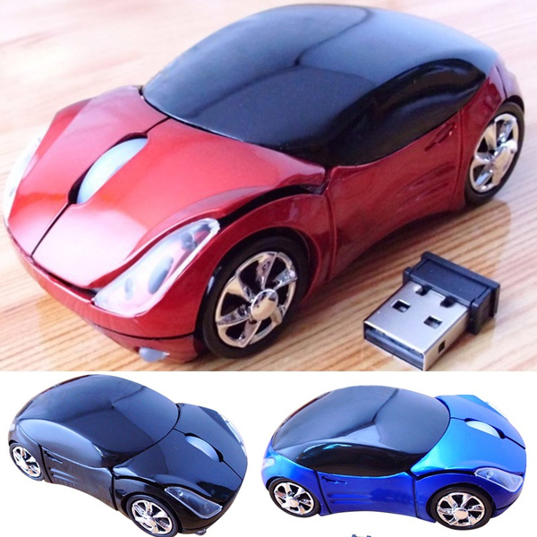 Picture of 3d Car Voiture Shaped 2.4ghz Optique Wireless Mouse Mice Usb Receiver For Pc Laptop Macbook