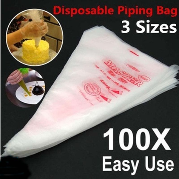 Picture of Plastic Disposable Piping Bags Cake Cream Decorating Sizes/m/l
