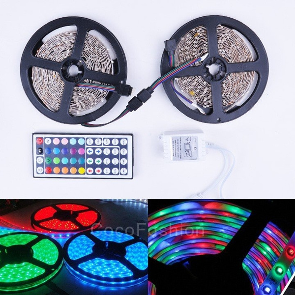 Picture of 2x5m 3528 Indoor Smd Rgb 600leds Led Light Strip Lamp With Ir Remote Controller Cfc