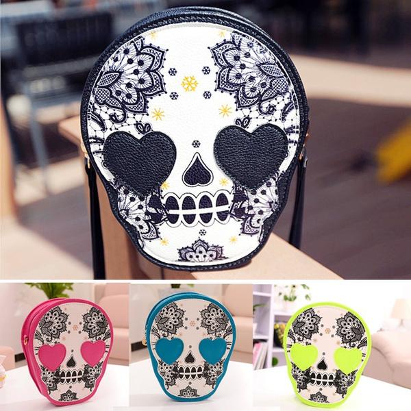 Picture of Bag Vintage Skull Bag Coin Purse Handbag Messenger Bags Shoulder Bags 7s Color Black