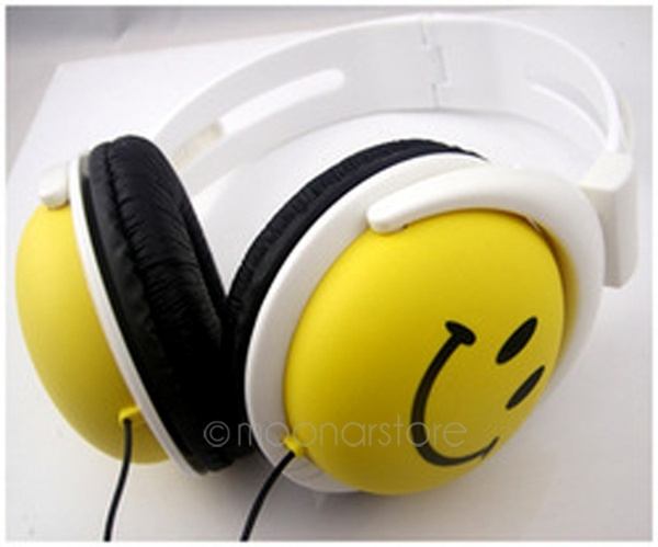 Picture of Smile Face Boys Girls Kid Headphone Earphone Headset For Computer Mp3 Mp4 Psp Dj