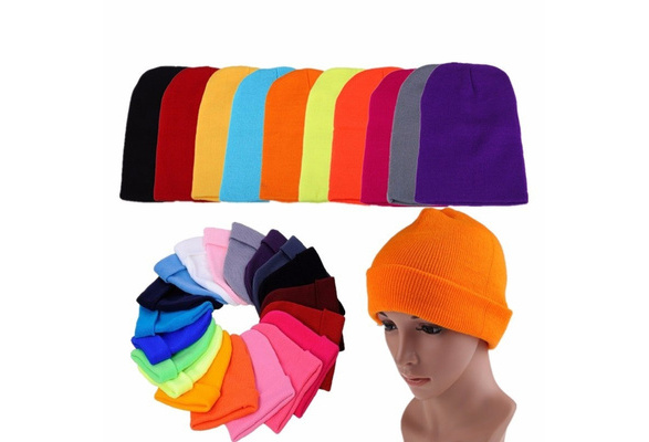 Autumn /& Winter Unisex Hats Turban Hat Skullies Beanies Knitted Caps B-022