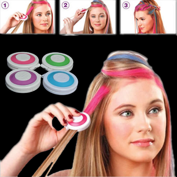 4pcs Huez Hair Chalk Powder Fashion Christmas DIY Temporary Wash-Out Fashion