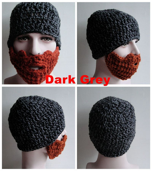 Wish Noveltywinter Mask Knit Beard Hat Beanie Hat For Mens And