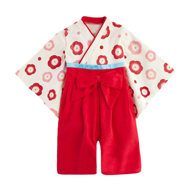 Red dress 2t kimono