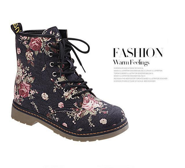 Picture of Women's Fashion Flower Martin Shoes