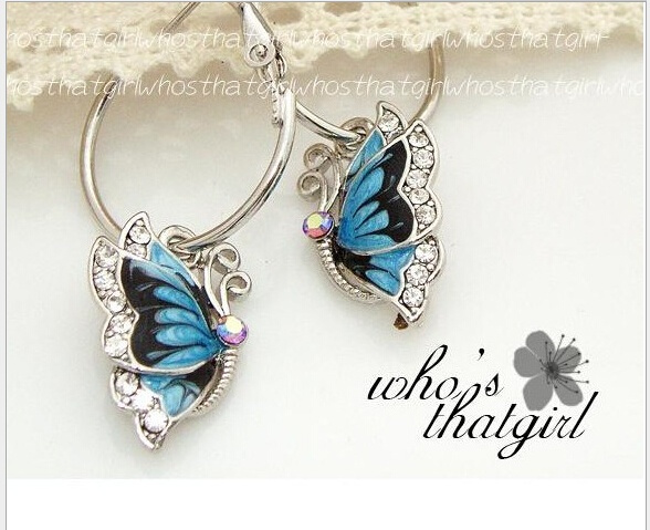 largesilverhoopearring, pavehoopearring, Fashion, butterfly