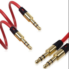3.5mm Aux Auxiliary Cord Male to Male Stereo Audio Cable for PC iPod MP3 Car Red
