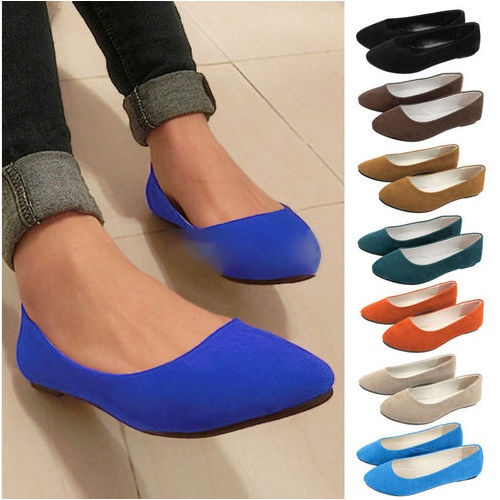 Picture of Fashion Lady Women Girl Casual Sexy Ballerina Slippers Pump Loafers Moccasins On Dolly Ballet Shoes Flats Shoes Ballet Slip-on Flat Work Shoes Flipper Flats Shoes