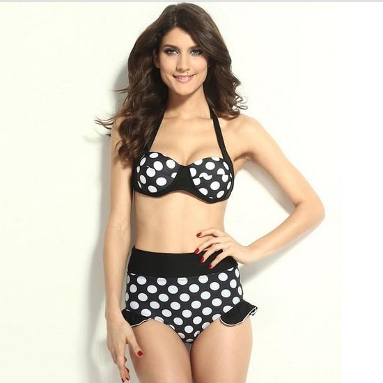 Wish Nautical Swimwear Bbw Lingerie Plus Size Designer Clothes High Waisted Bikini Sets