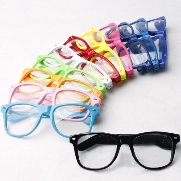 Picture of Fashion Retro Vintage Clear Lens Frame Wayfarer Trendy Cool Nerd Geek Glasses