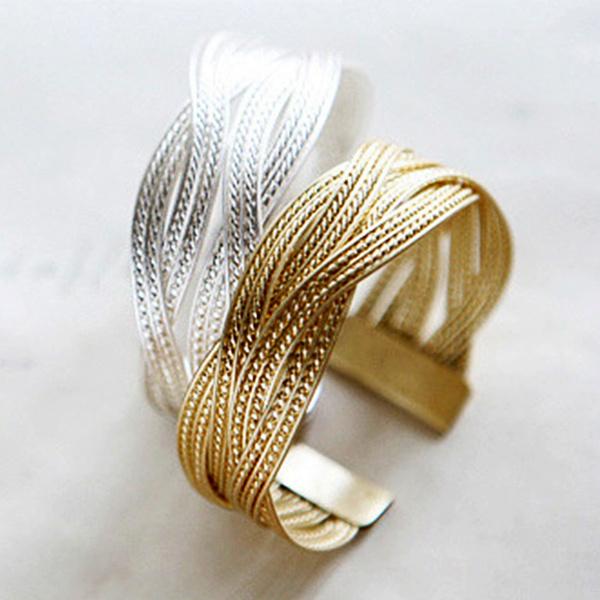 Picture of 1 Pice Fashion Femmes Chaudes Vente Mtal Twist Tresse Bracelet