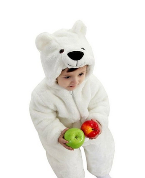 wish winter newborn romper animal polar bear toddler infant baby onesie outfits suit halloween costume 80cmfor ages 6 12 months