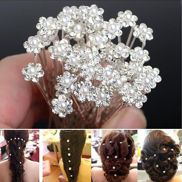 flowerhairclip, Beauty, Dress, Rhinestone