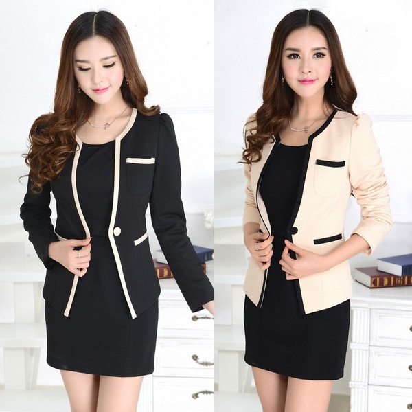 Formal Ladies Dress Suits for Women Business Suits Work Wear Blazer ...