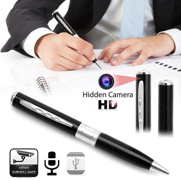 Picture of Mini Dv Pen Hidden Camera Camcorder Video Recorder Dvr 1280x960 16gb Tf Card Gold Silver