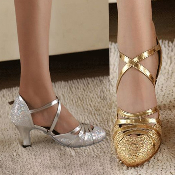 Picture of High Heel Latin Shoes 6cm Women Bling Shoes Ballroom Dancing Shoes