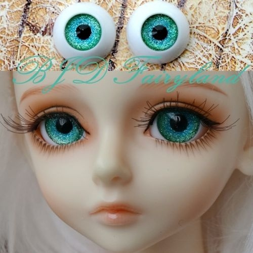 Doll  eyes acrylic 18 mm 1 pair Blue with lashes for bjd dollfie craft