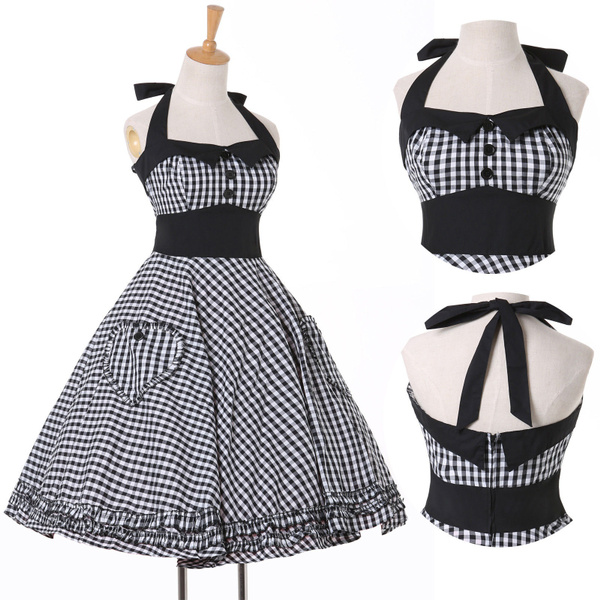 Wish | BLACK FRIDAY SALE Vintage Housewife Rockabilly 50s Plaid ...