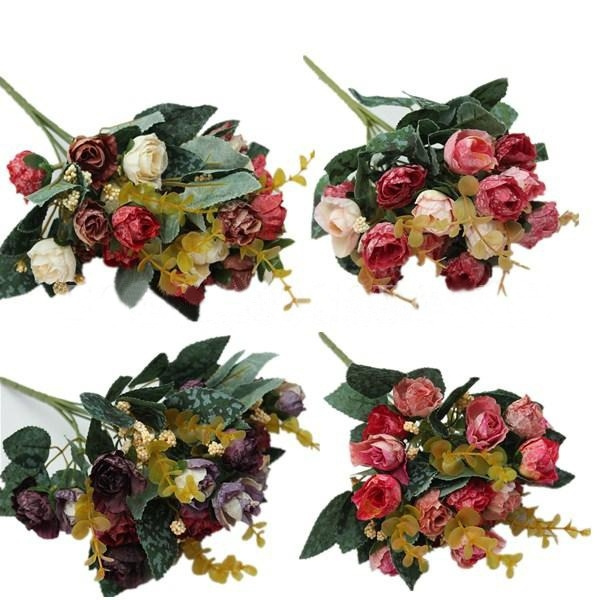 Picture of 21 Heads/bouquet Artificial Peony Silk Fake Flowers Home Wedding Decor