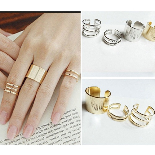 Picture of 3pcs 1set Top Of Finger Over The Midi Tip Finger Above The Knuckle Open Ring