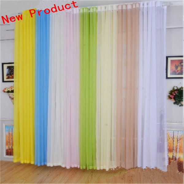 Luxury Sheer Curtains Living Room Windows Tulle Curtains Screen ...