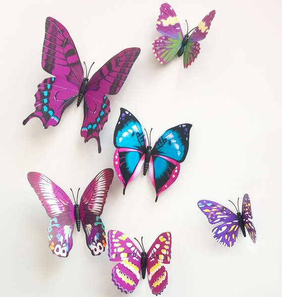 wish sticker art design decal wall stickers home decor room decorations 3d butterfly - Room Decor 3d