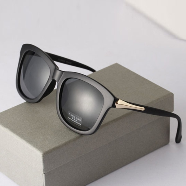 Picture of Vintage Unisex Square Sunglasses Plastic Frame Eyeglasses Glasses