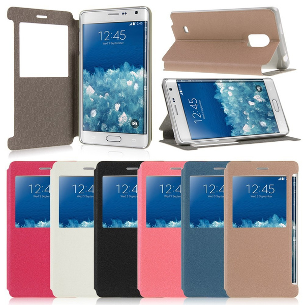 Wish   Stand For Samsung Galaxy Note Edge N915 Leather View Window Case Cover