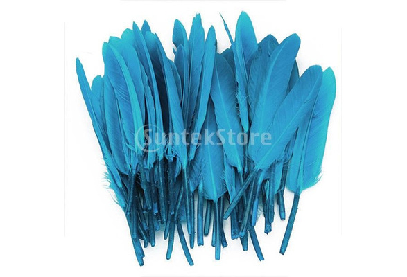50pcs Dyed Goose Feather 4-6in