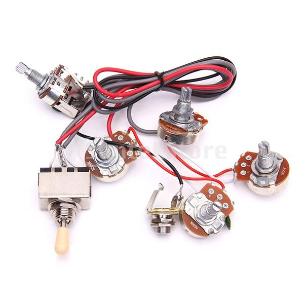 Guitar Wiring Harness Prewired 2V/2T for Gibson LP on gibson es-335 wiring, gibson les paul wiring mods, gibson 50s wiring, gibson switch wiring,