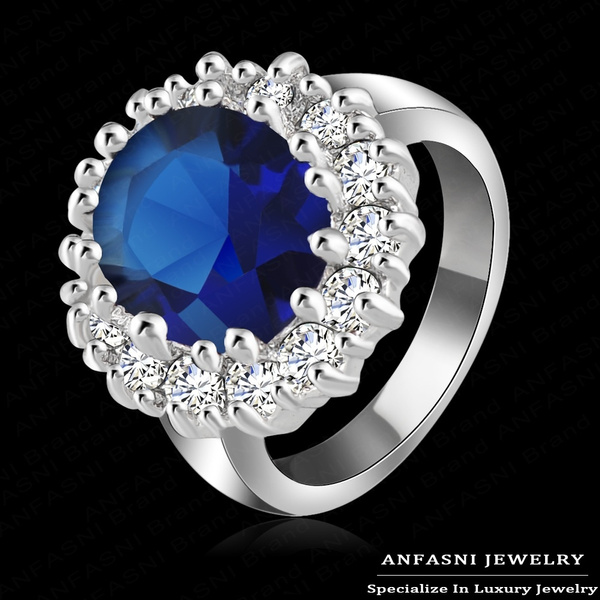 Princess Diana Wedding Ring.Luxury British Kate Princess Diana William Engagement Ring With Real Platinum Plate Crystal Wedding Rings For Women