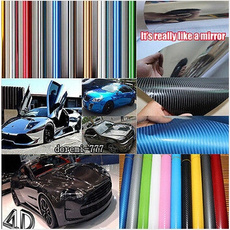 3D Carbon Fiber Vinyl Car Vehicle Window Wrap Sheet Film Sticker Decal 14 Colors 1270mm*200mm