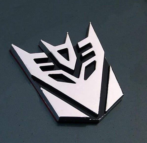 Wish 10pcslot Hot Sale Car Metal Sticker Transformation Autobot