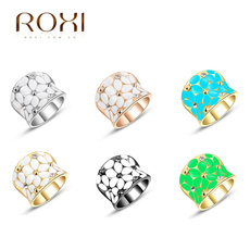 ROXI 2014 Christmas Gift Plating Rings Austrian Crystal Fahion Jewelry Rings for Women Party Wedding