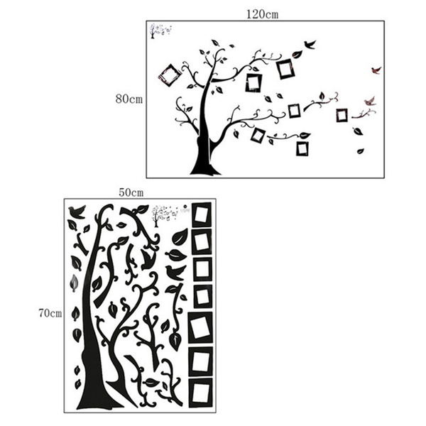 Picture of Removable Living Room Tree Bird Wall Stickers Art Decal Home Decor Wall Art Size Xs70x50 Cm