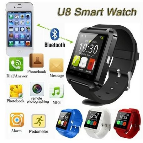 Picture of U8 Bluetooth Smart Wrist Watch Smartphone For Ios Android Iphone Samsung Htc