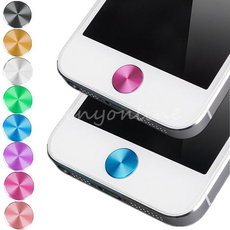 Colorful Aluminium Metal Round Home Button Sticker Decal for iPhone 4 4S 5C