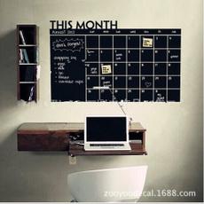 Home & Office Decor Chalk Board Blackboard Monthly Calendar Vinyl Wall Sticker