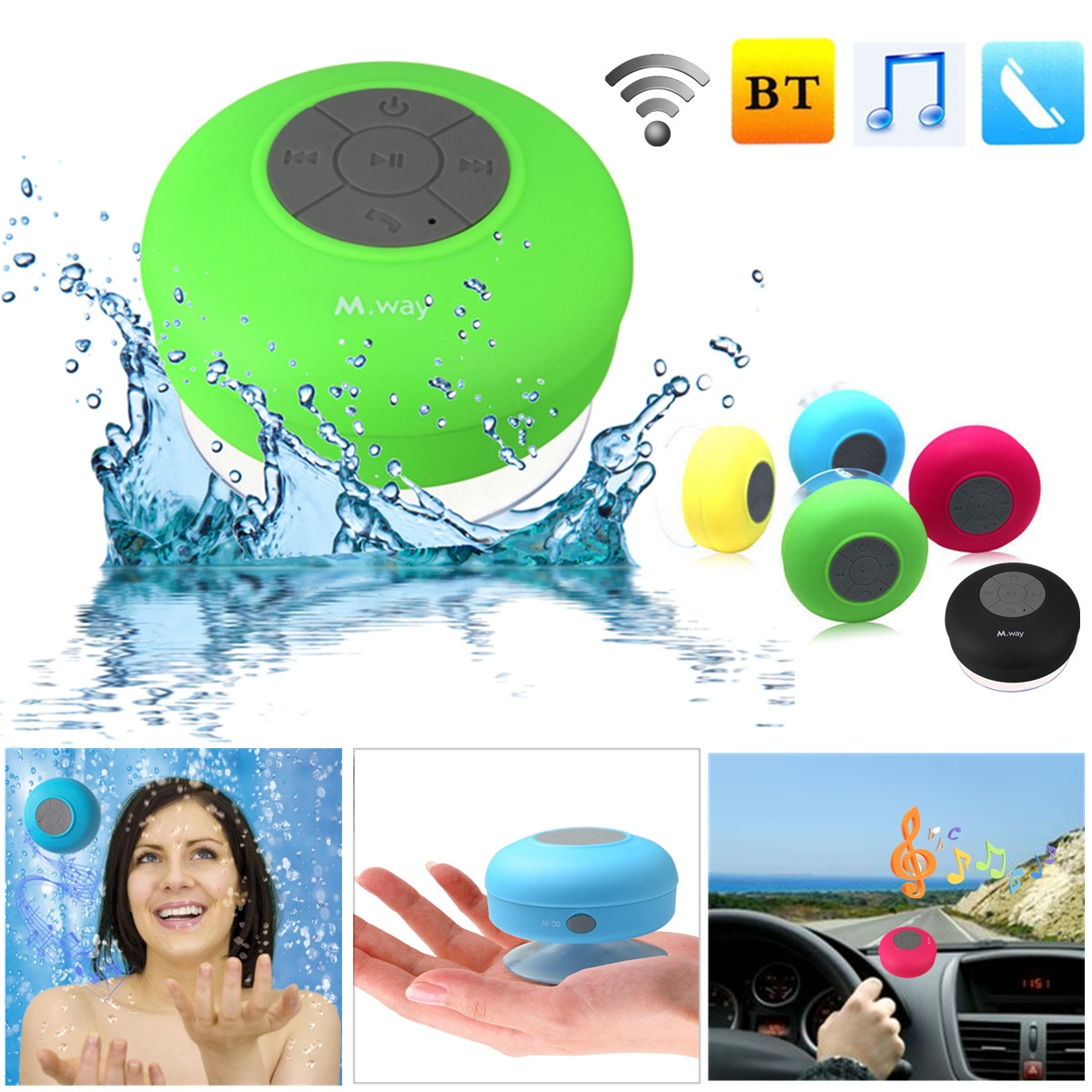 Every Need Want Day Waterproof Bluetooth Speaker Bts 06 Original Search For The Devices Namesbts On Your Smart Phone Or Other 3 Will Make A Beep Sound When Is Connected