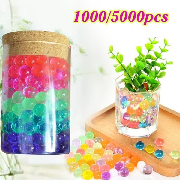 Picture of 10 Bags1000pcs Crystal Mud Soil Water Beads Bio Gel Ball For Flower Weeding Cultivation Leisure Planting Flower/weeding/deraction