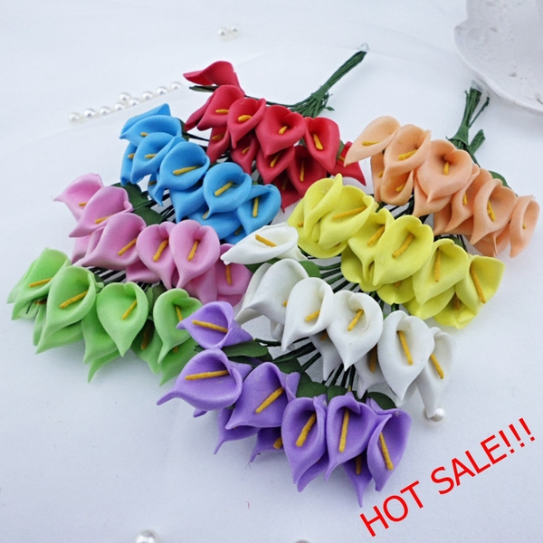 Picture of 1lot 144pcs Foam Mini Artificial Maataifaal Flower Simulation Bouquet Wedding Party Home Decorations Scrapbooking