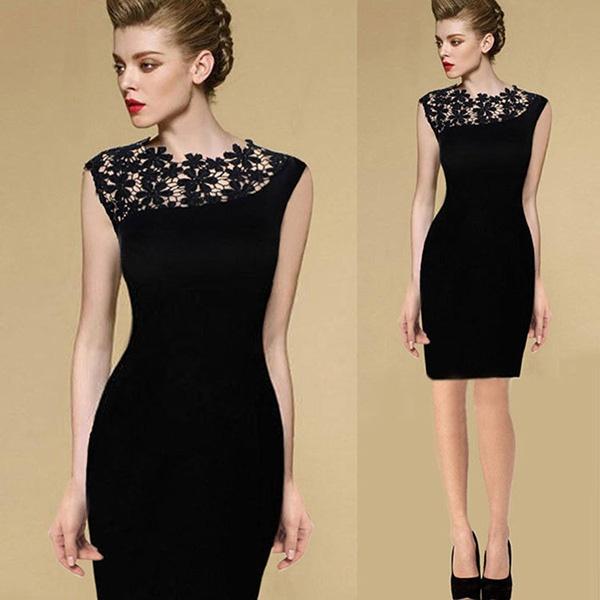 slim, Lace, Evening Dress, Dress