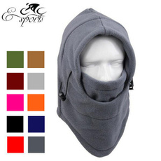 6 in 1 Thermal Fleece Balaclava Hood Swat Ski Mask Bike Skullies & Beanies Winter Wind Stopper Face Hats