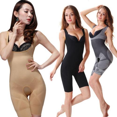 5820012b82 Women Sexy Shapewear Waist Tummy Underwear Belly Slim Full Body Shapewear  Belt Body Shaper Suit Bamboo Charcoal Corset Pants Cincher