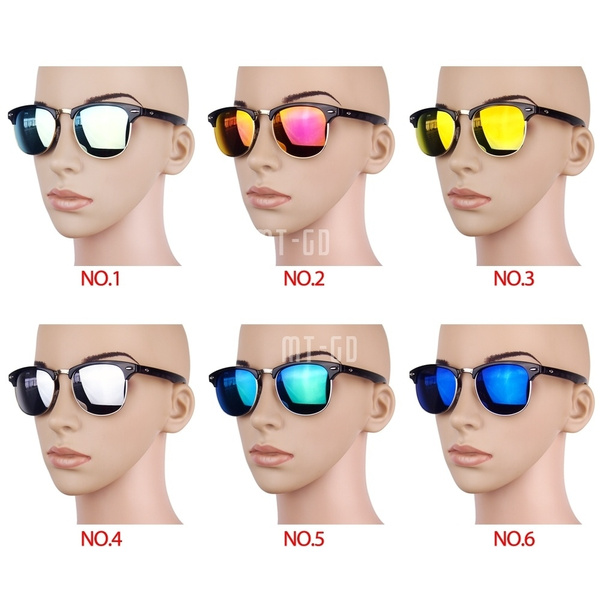 Picture of Classic Vintage Summer Uv Protection Sunglasses Eye-glasses Retro Trend Hipster Style Men's Women's Color Lenses