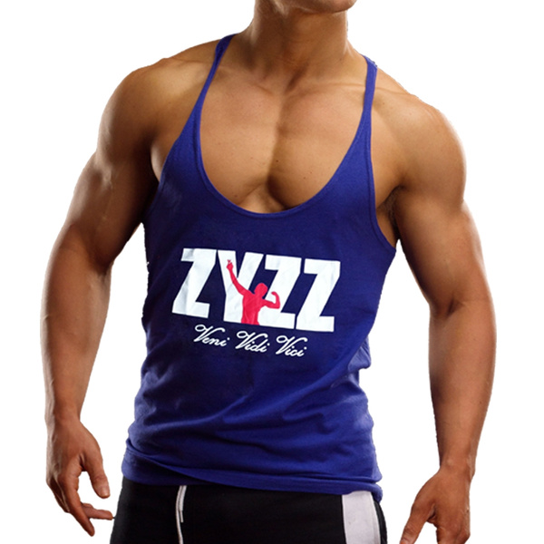 68bb9e7b ZYZZ Men Gym Singlet Stringer Muscle Tank Tops Fitness Sport Shirt Y BACK  Racer | Wish
