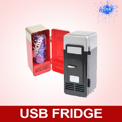 Wish Gadget New Usb Fridge Mini Refrigerator Cooler And Warmer Portable Desktop For Drinks Desk Car Drink